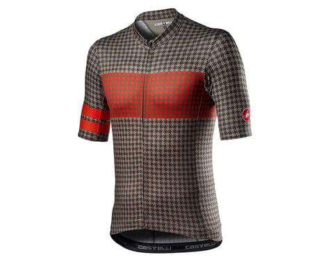 Castelli Maison Short Sleeve Jersey (Bark Green/Fiery Red) (L)