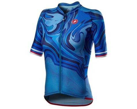 Castelli Climber's 2.0 Women's Short Sleeve Jersey (Azzurro Italia) (S)