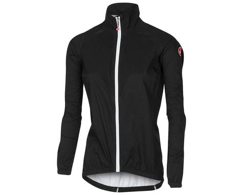 Castelli Women's Emergency Rain Jacket (Black) (L)