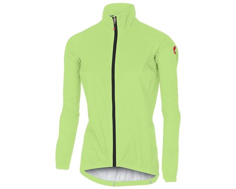Castelli Women's Emergency Rain Jacket (Yellow Fluo) (S)
