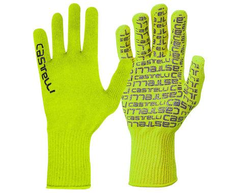 Castelli Corridore Long Finger Gloves (Yellow Fluo) (L/XL)