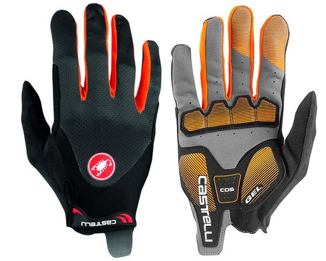 Castelli Arenberg Gel Long Finger Gloves (Dark Grey/Orange) (S)