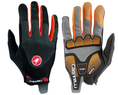 Castelli Arenberg Gel Long Finger Gloves (Dark Grey/Orange) (L)