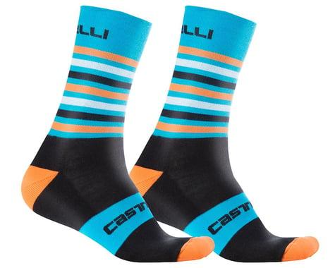 Castelli Gregge 15 Socks (Black/Orange Fluo) (L/XL)