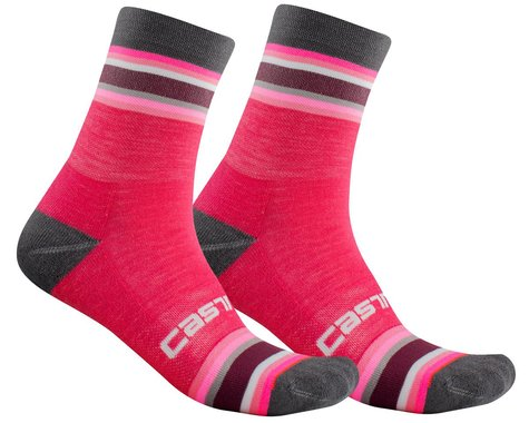 Castelli Striscia 13 Women's Socks (Electric Magenta) (S/M)