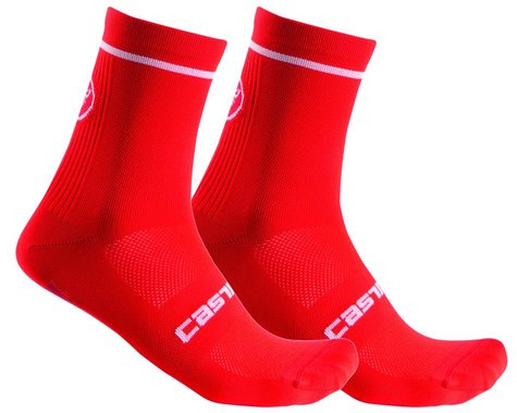 Castelli Entrata 13 Sock (Red) (L/XL)
