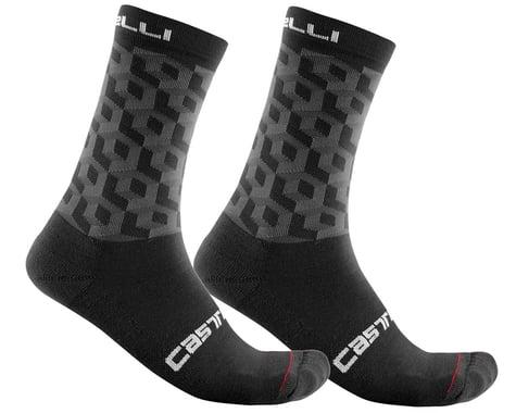 Castelli Men's Cubi 18 Socks (Black) (2XL)