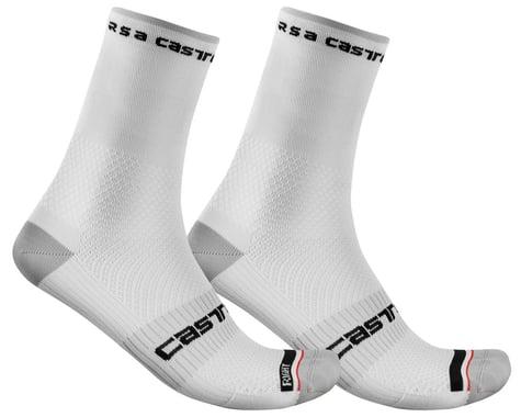 Castelli Rosso Corsa Pro 15 Sock (White) (S/M)