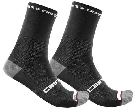 Castelli Rosso Corsa Pro 15 Sock (Black) (L/XL)