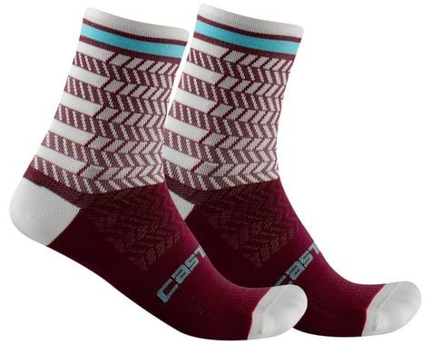 Castelli Avanti 12 Sock (Bordeaux/Ivory) (L/XL)