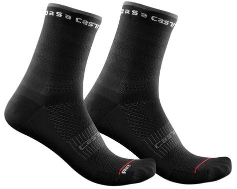 Castelli Rosso Corsa 11 Women's Sock (Black) (L/XL)