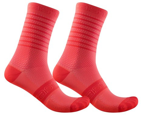 Castelli Superleggera 12 Women's Sock (Brilliant Pink) (S/M)