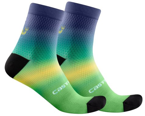 Castelli Gradient 10 Women's Sock (Malachite Green) (L/XL)