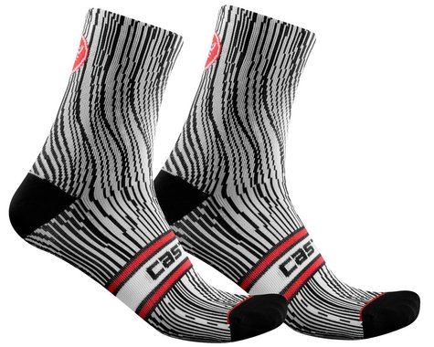 Castelli Illusione Women's Sock (Black/White) (S/M)