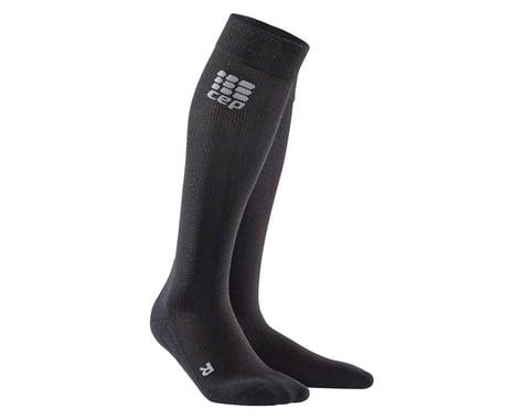 CEP Recovery+ Merino Compression Socks - 10 inch, Black, Women's, Small (L)