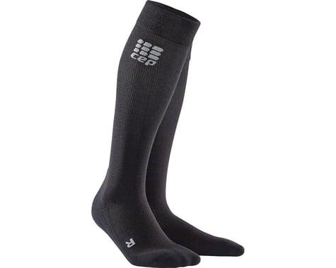 CEP Recovery+ Merino Compression Socks - 10 inch, Black, Men's, Medium (XL)