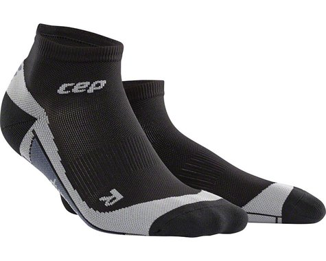 CEP Dynamic+ Low Cut Women's Compression Sock: White/Black IV