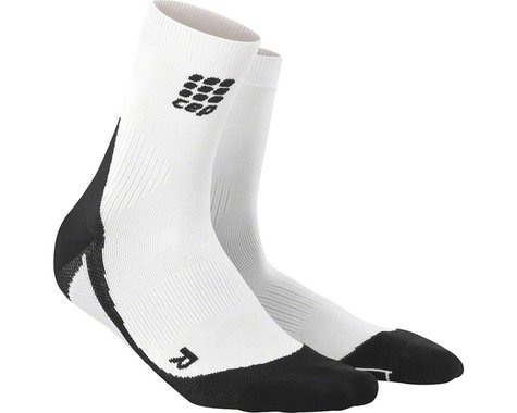 CEP Dynamic+ Short Women's Compression Sock (White/Black)