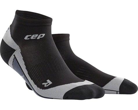 CEP Dynamic+ Low Cut Men's Compression Sock: White/Black V