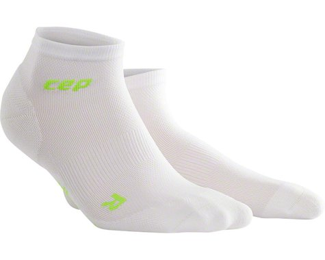 CEP Dynamic+ UltraLight Low Cut Men's Compression Sock (White/Green) (L)