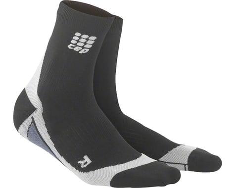 CEP Dynamic+ Short Men's Compression Sock: White/Black V (XL)