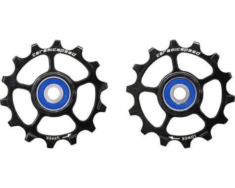 CeramicSpeed SRAM Eagle-14 1x12-speed Pulley Wheels: Stainless Steel, Black