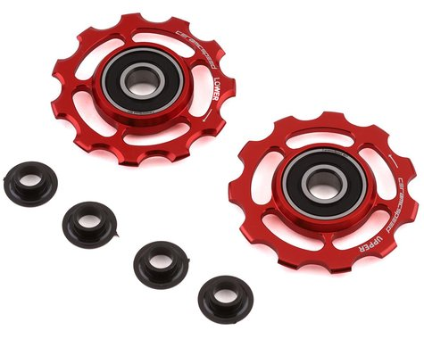 CeramicSpeed Shimano 11-Speed Pulley Wheels (Red) (Alloy)