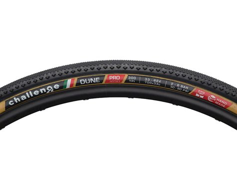 Challenge Dune Pro Tire - 700 x 33, Clincher, Folding, Black/Tan, 300tpi