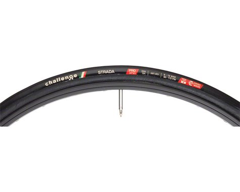 Challenge Strada Pro Tire: Tubular, 700x25, 300tpi, Black