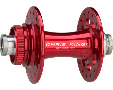 Chris King R45D 12mm Front Disc Hub (Red) (32 Hole) (Centerlock)