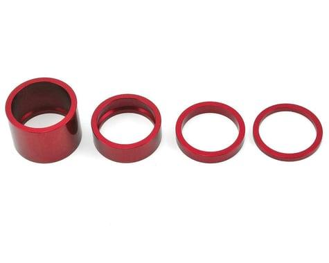 """Chris King Headset Spacer Kit (Red) (1-1/8"""")"""