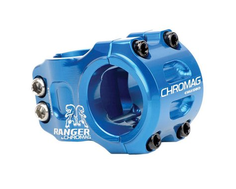 Chromag Chromag, Ranger V2, Stem, 1-1/8'', L: 31mm, 0°, Dia: 31.8mm, Blue