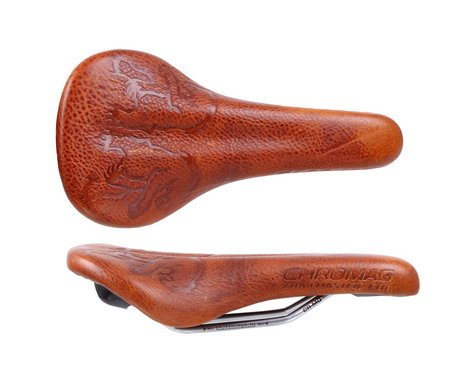 Chromag Trailmaster LTD Saddle (Cedar/Full Grain) (Chromoly Rails) (140mm)