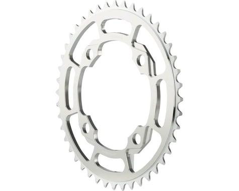 Ciari Corona 4 Bolt 7075 T6 Aluminum Chainring (Silver) (104mm BCD) (44T)