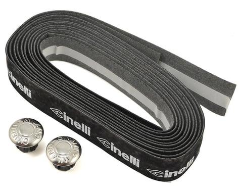 Cinelli Logo Velvet Ribbon Handlebar Tape (Black/White Logo)