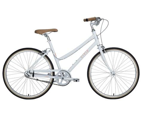 Civia Lowry Single-Speed Step-Thru Bike (Coconut White/Orange) (S)