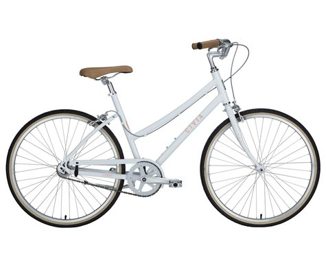 Civia Lowry Single-Speed Step-Thru Bike (Coconut White/Orange)