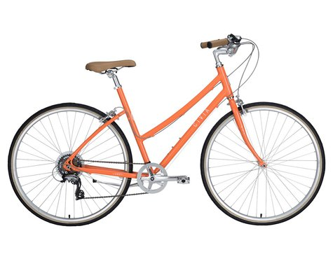 Civia Lowry 7-Speed Step-Thru Bike (Orange/Coconut White)