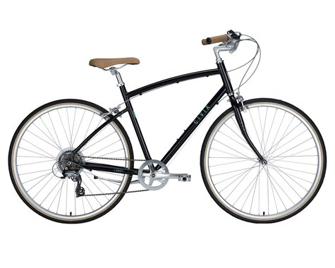 Civia Lowry 7-Speed Step-Over Bike (Black Jelly Bean/Mint Green) (M)