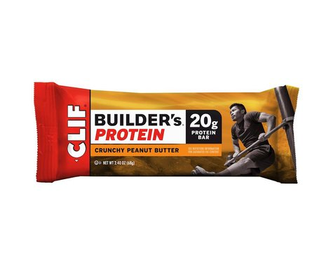 Clif Bar Builder's Bar (Crunchy Peanut Butter) (12) (12 2.4oz Packets)