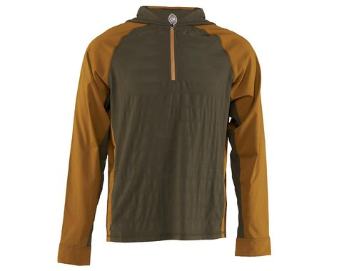 Club Ride Apparel Men's Helios Sun Shirt (Dusty Olive/Tapenade) (L)