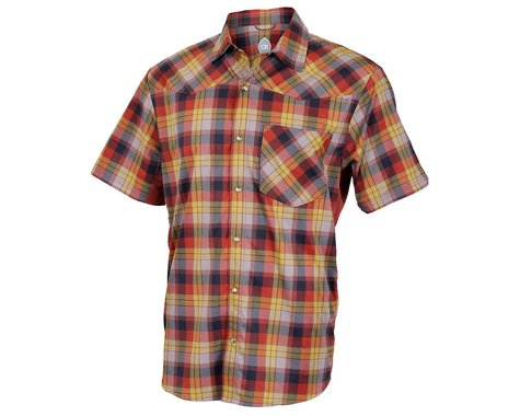 Club Ride Apparel New West Short Sleeve Shirt (Rust) (M)