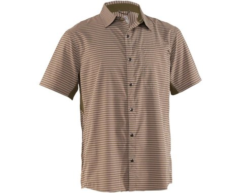 Club Ride Apparel Men's Vibe Short Sleeve Shirt (Grey Stripe) (L)