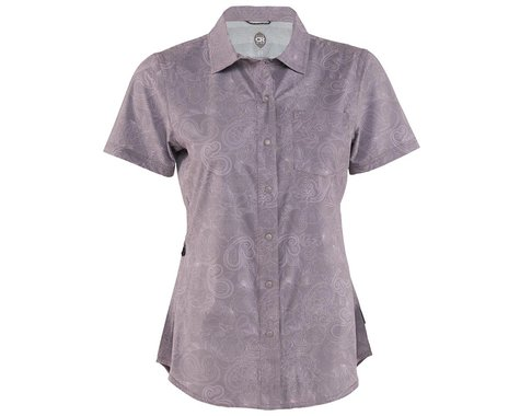 Club Ride Apparel Women's Camas Short Sleeve Jersey (Steel Print) (XS)