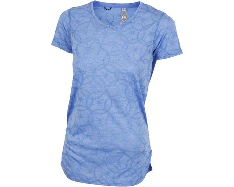 Club Ride Apparel Women's Wheel Cute Top (Glacier Blue) (XS)