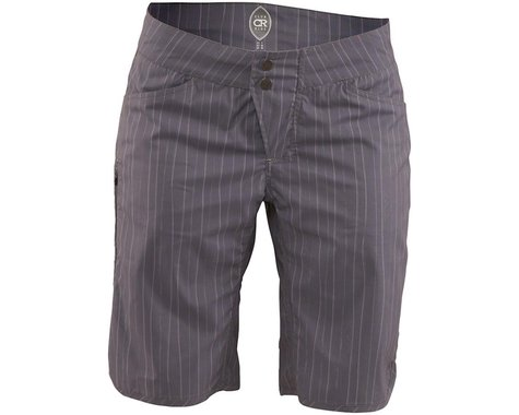 Club Ride Apparel Savvy Women's Short (Gray Artisan Pinstripe) (L)
