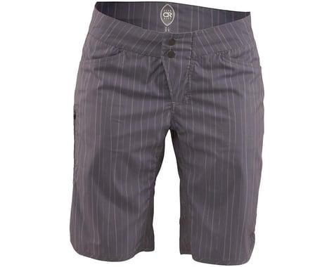 Club Ride Apparel Savvy Women's Short (Gray Artisan Pinstripe) (XL)