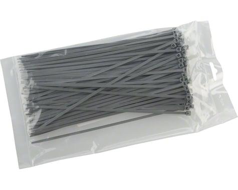 "Cobra Ties 8"" x 40lb (205 x 3.5mm) Intermediate Zip Ties, Gray, Bag of 100"