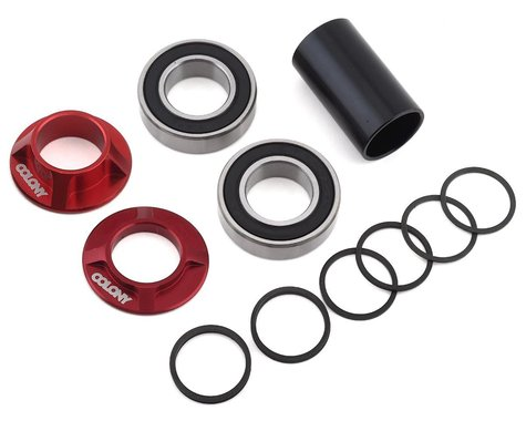 Colony Mid Bottom Bracket Kit (Dark Red) (22mm)