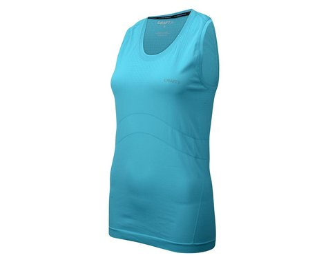 Craft Women's Cool Seamless Singlet Sleeveless Baselayer (Aqua)
